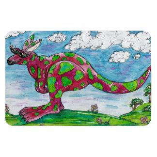 Prue the Pink Kangaroo Flexible Magnet