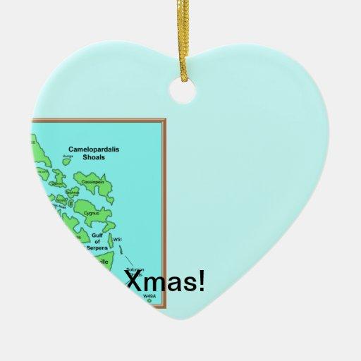 prueba adorno navideño de cerámica en forma de corazón