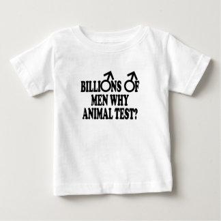 Prueba animal divertida feminista playera de bebé