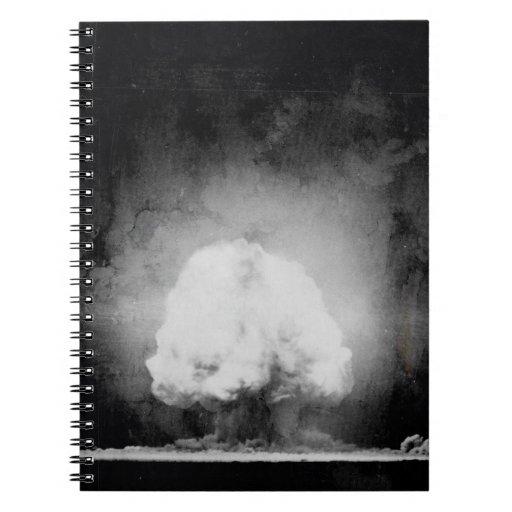 Prueba de la bomba atómica de la trinidad libretas