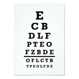 Prueba de la carta de ojo invitaciones personalizada