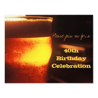 Prueba de la cerveza o invitación de la fiesta de
