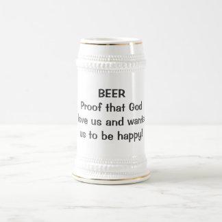 ¡Prueba de la CERVEZA que dios ama nos y wantsus p Jarra De Cerveza