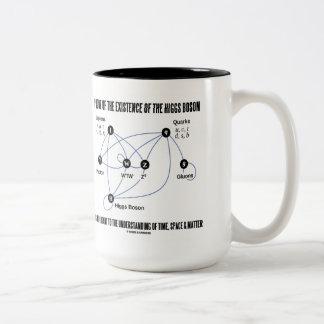 Prueba de la existencia del bosón de Higgs Taza De Dos Tonos