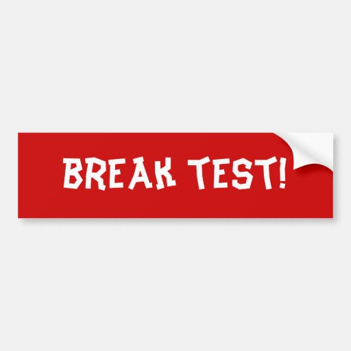¡prueba de la rotura! etiqueta de parachoque
