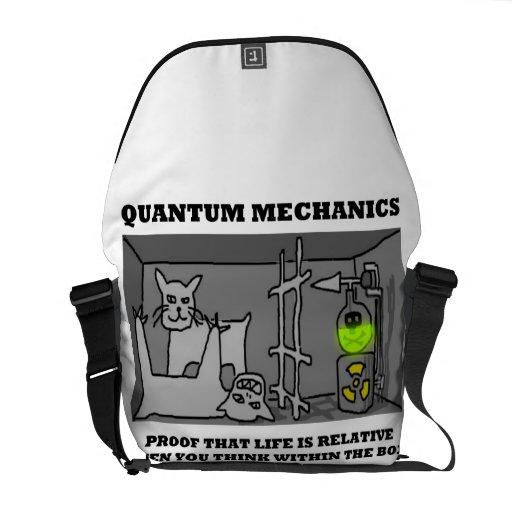 Prueba de los mecánicos de Quantum que la vida es  Bolsas De Mensajería