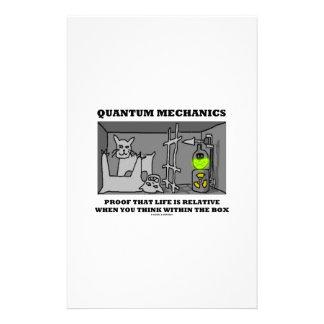 Prueba de los mecánicos de Quantum que la vida es Papelería