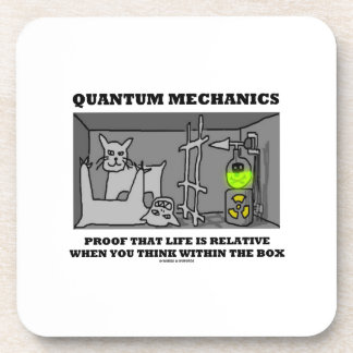 Prueba de los mecánicos de Quantum que la vida es Posavasos De Bebidas