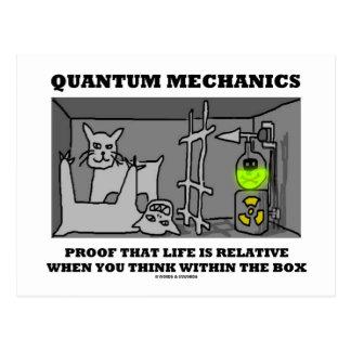 Prueba de los mecánicos de Quantum que la vida es  Postales