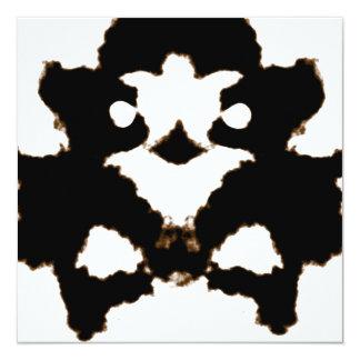 """Prueba de Rorschach de una tarjeta de la mancha Invitación 5.25"""" X 5.25"""""""