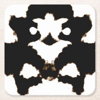 Prueba de Rorschach de una tarjeta de la mancha Posavasos Personalizable Cuadrado