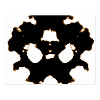 Prueba de Rorschach de una tarjeta de la mancha Postales