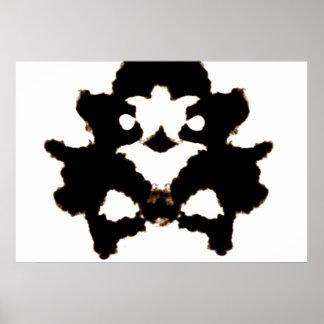 Prueba de Rorschach de una tarjeta de la mancha Póster