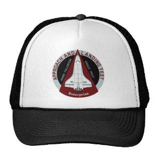 Prueba del aterrizaje del acercamiento de la empre gorras de camionero