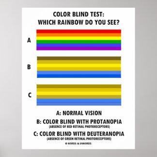 ¿Prueba del daltónico que el arco iris usted ve? Poster
