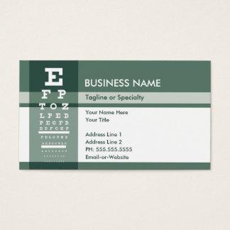 prueba del ojo de la flor de lis tarjetas de visita