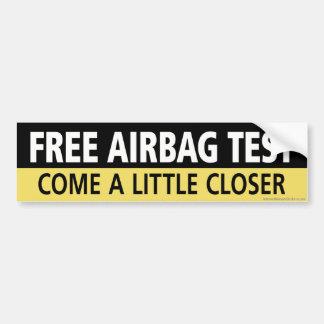 Prueba libre del saco hinchable pegatina de parachoque