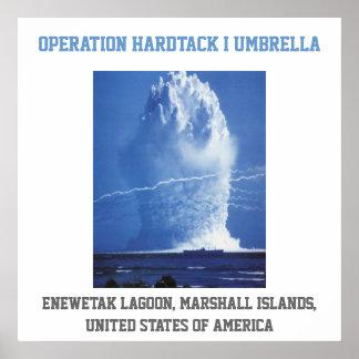 Prueba nuclear de Marshall Islands ESTADOS UNIDOS Póster