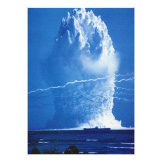 Prueba nuclear subacuática 1958 del paraguas de fotografía