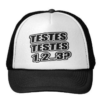 ¿Prueba que prueba 1 2 3 testículos 1 de los testí Gorros Bordados