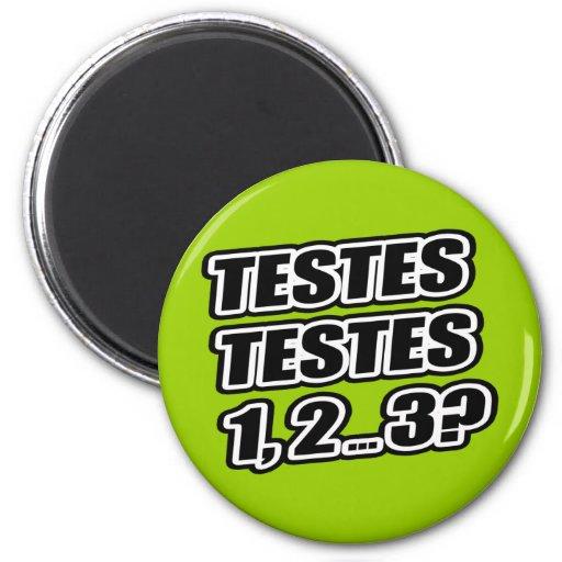 ¿Prueba que prueba 1 2 3 testículos 1 de los testí Iman De Nevera