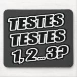 ¿Prueba que prueba 1 2 3 testículos 1 de los testí Alfombrilla De Raton