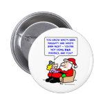pruebas de la DNA del navidad de Papá Noel Pin