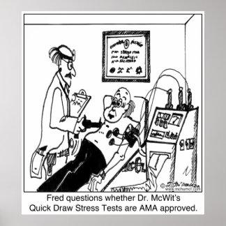 Pruebas de tensión no aprobadas por el AMA Poster