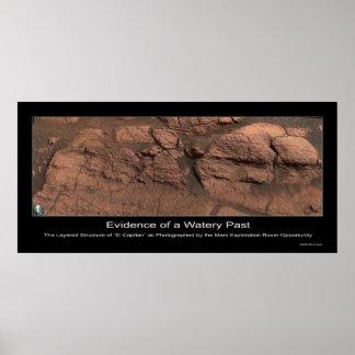 Pruebas de un pasado acuoso en Marte Posters