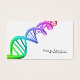 Pruebas genéticas - tarjeta blanca simple de la tarjetas de visita