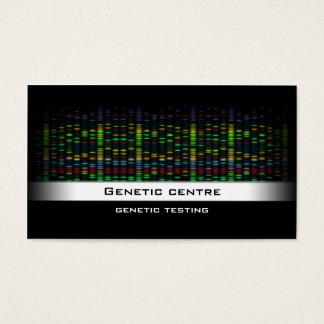 Pruebas genéticas - tarjeta de visita de la