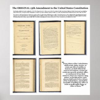 Pruebas ORIGINALES de la enmienda XIII de la const Posters