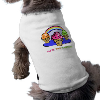 Pruebe el arco iris camiseta de perrito