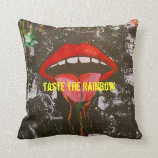Pruebe el arco iris almohada