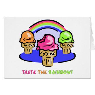 Pruebe el arco iris felicitación