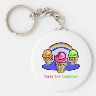 Pruebe el arco iris llavero personalizado