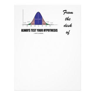 Pruebe siempre su hipótesis (el humor de la curva plantillas de membrete