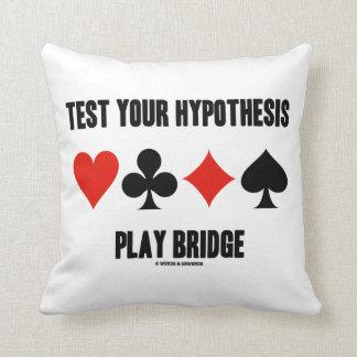 Pruebe su puente del juego de la hipótesis (los cojines