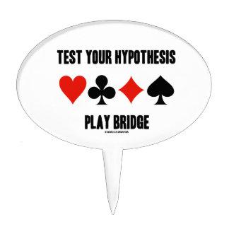 Pruebe su puente del juego de la hipótesis (los ju decoraciones para tartas