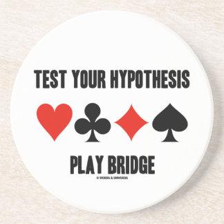 Pruebe su puente del juego de la hipótesis (los ju posavasos personalizados