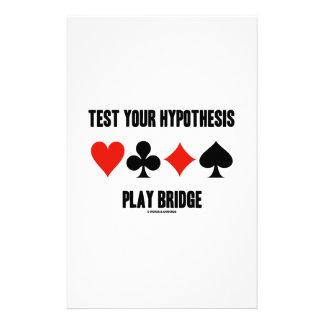 Pruebe su puente del juego de la hipótesis (los papelería