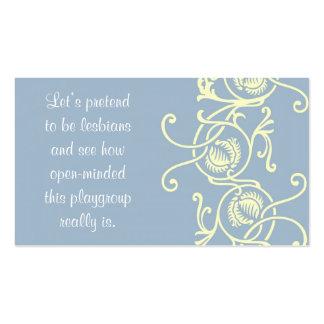 Pruebe sus tarjetas de la mamá de la tolerancia plantilla de tarjeta de visita