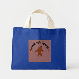Pruébeme mal bolsa lienzo