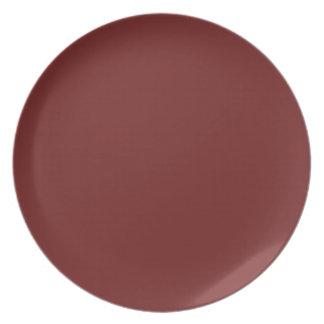 Prune-Colored Plate
