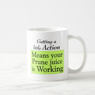 Prune juice coffee mug