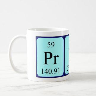 Prune periodic table name mug