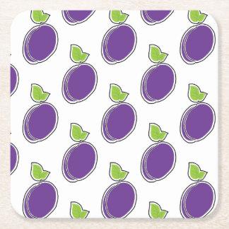 Prune Square Paper Coaster