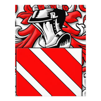 Prunier Coat of Arms Customized Letterhead