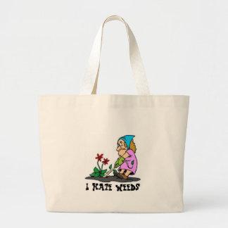 Prunning, I Hate Weeds Large Tote Bag