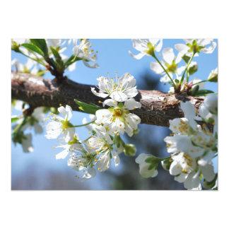 "Prunus Blossom 5.5"" X 7.5"" Invitation Card"